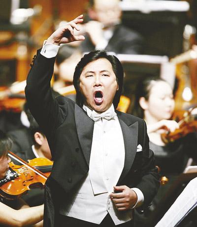 廖昌永在音乐会上演唱