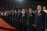 孫家正、趙洪祝、夏潮等領導觀看升國旗儀式,袁雲攝.jpg
