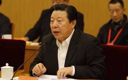 中國文聯主席孫家正在會議上講話