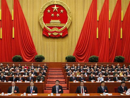高丽等党和国家领导人在主席台就座.新华社记者鞠鹏摄-2014全国 图片