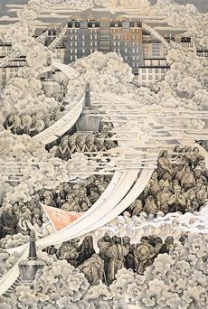 高原祥雲—和平解放西藏(中國畫) 韓書力