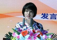 中國企業文化促進會企業藝術家工作委員會常務副主任、浙江視科文化傳播有限公司總裁黃艷紅講話