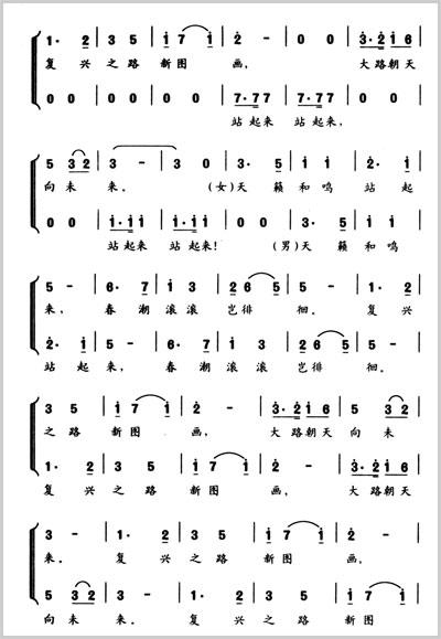 阳光路上歌谱-群众最喜爱新创作歌曲 唱响中国