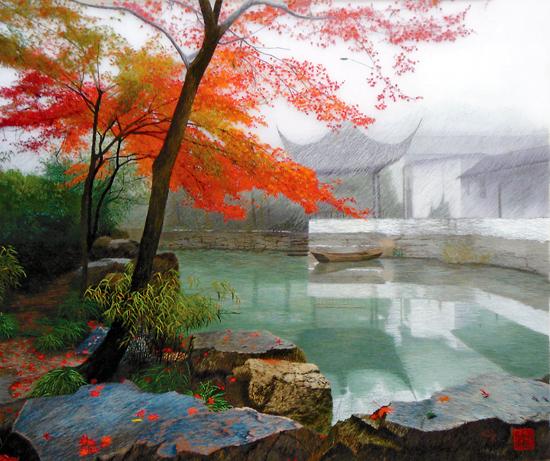江南的风景的词语