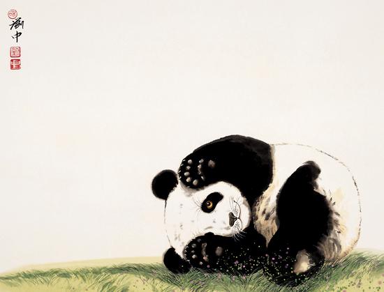 工笔熊猫水墨画法步骤