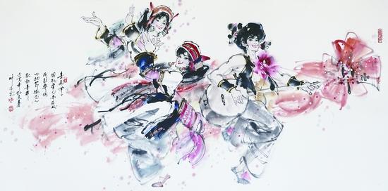 《墨舞中华》陈玉先从艺50年水墨舞蹈画展中美轮美奂的作品.