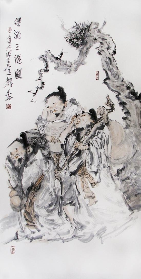 张立奎作品-中国梦 民族魂 中国画名家邀请展在京开幕