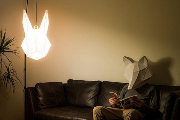 手工纸艺动物灯