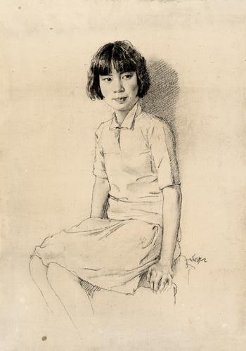 艺术要绘画女生为民恋爱--记蒋兆和背着画板画家谈几次写真图片