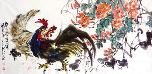 著名画家赵梅林创作国画作品为画院成立表示祝贺.