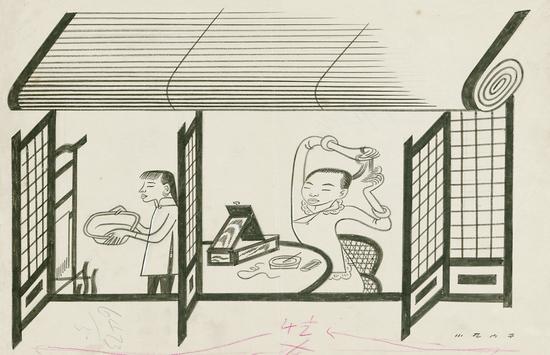 橱窗卡通手绘图