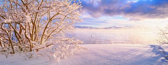 美国南太浩湖雪景(创意图片) cfp供图