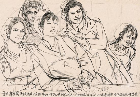 中国梦我的梦绘画素描
