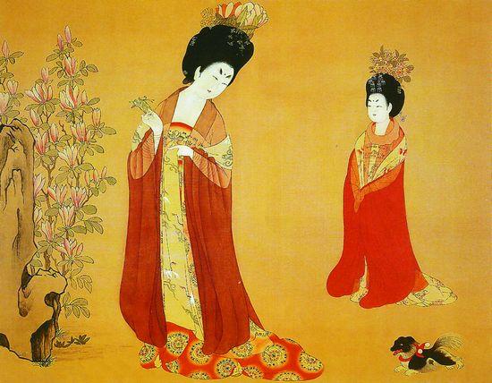 (二)身体矫健,肌肤白皙   唐代女性除了具有丰硕的外部体形特征外