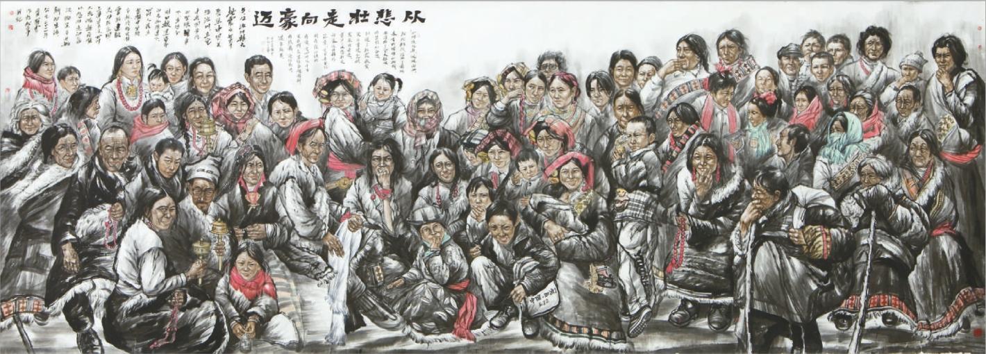 巨幅国画《从悲壮走向豪迈》作者:罗云 尺寸65002400cm 首展于中国人民革命军事博物馆。先后发表于《人民日报》 、 《光明日报》 、 《文汇报》 、 《华西都市报》 、 《四川日报》 、 《美术报》 、 《荣宝斋》杂志、 《中国民航》杂志、 《西南航空》杂志、 《巴蜀画派》杂志等。2011年6月在由中央外宣办、四川省委宣传部、甘肃省委宣传部、陕西省委宣传部主办, 193家中央和地方重点新闻网站、知名商业网站共同承办的我与地震灾区和难忘的记忆全国网络征集活动中获美术作品类全国金奖。   这是